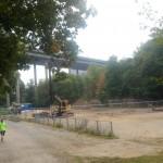 Bygget av nya idrottshallen igång