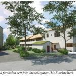 Ny större förskola ersätter barack