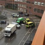 Gångtrafikant påkörd i Sjöviksbacken