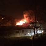 Hägerstenshamnens skola brinner