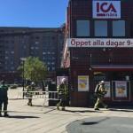 Ica-butiken utrymd efter brand