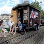 Het mobil bastu poppar upp på Lövholmen