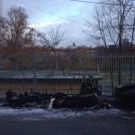 Bilbrand vid Aspuddens idrottsplats