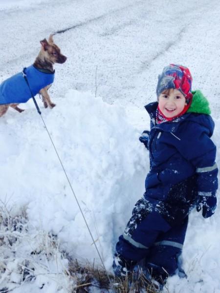 Jessika Hahne En snödriva i Fruängen, hur kul som helst!