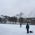 Kraftig rökutveckling vid bilbrand
