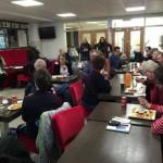 Lokalpolitiker grillades vid dagens lunch