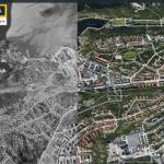 Hägersten-Liljeholmen lite från ovan – för 50 år sedan