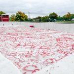 Konstnären Saga Berlin åtalas för graffitimålningen på Personnebadet
