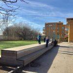 Ekensbergsskolan renoveras – paviljonger ställs upp på fotbollsplan