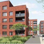 Nytt kollektivhus byggs på parkmark