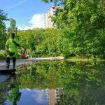 VIDEO: Blommensbergsvägen översvämmades vid vattenläcka