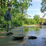 Många vattenläckor översvämmar stadsdelen