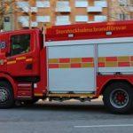 Brand i trapphus i Aspudden