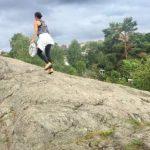 Joggare plockade skräp på Örnsbergs badberg