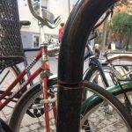 Sabotage mot cykelställ i centrum