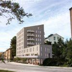 Förslag: Hyresradhus och 41 hyreslägenheter på Sparbanksvägen