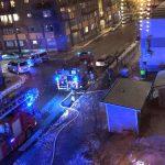 Svårsläckt fullt utvecklad brand i Sjöviksskolan