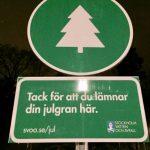 Nya insamlingsplatser redan fulla med julgranar