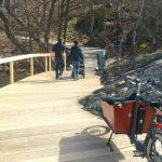 Nya bryggan runt Örnberget öppnar