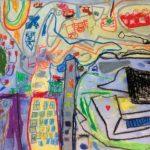 Förskolebarn gör egen konstutställning