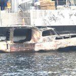 Båtbrand utanför Gröndal – stor räddningsinsats