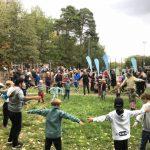 Publiksuccé när parkouren och konstgräset invigdes