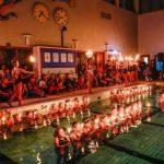 Konstsimmande luciatåg fyllde simhallen