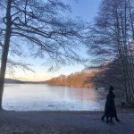 Populärt promenera runt Vinterviken