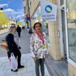 Tania öppnade förtidsröstningen i Aspudden