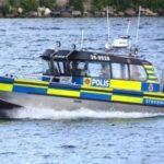 Man på vattenskoter försökte fly – greps av polis