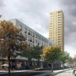 Nu byggs nya skrapan med 20 våningar hyresrätter