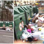 Detta gäller vid nedskräpning runt återvinningsstationer