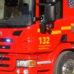 Brand vid garage i Liljeholmen