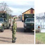 Militärambulanser skickas till sjukhuset i Älvsjö