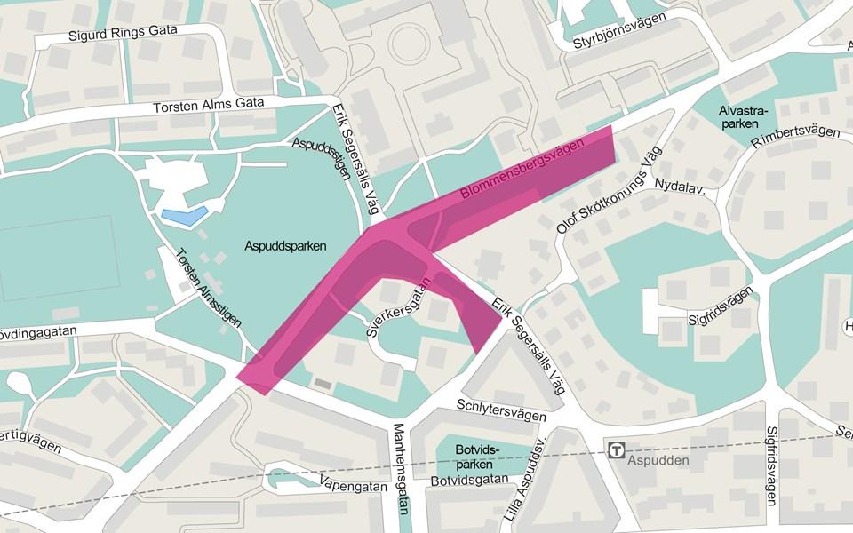 karta: blommensbergsvägen