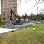 Arbete med Stockholms nya avloppstunnel inlett i Eolshäll