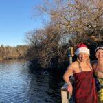 Sofia och Sofia tog årets juldopp vid Örnsbergsbadet