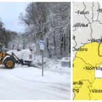 SMHI: Varning för kraftigt snöfall