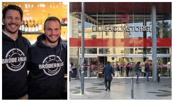 bröderna som driver restaurangen Brödernas - entren liljeholmstorgets galleria