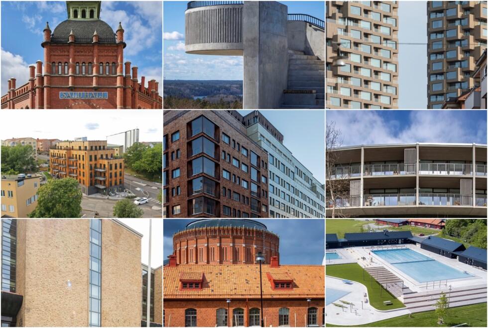 Finalisterna i tävlingen Årets Stockholmsbyggnad 2021