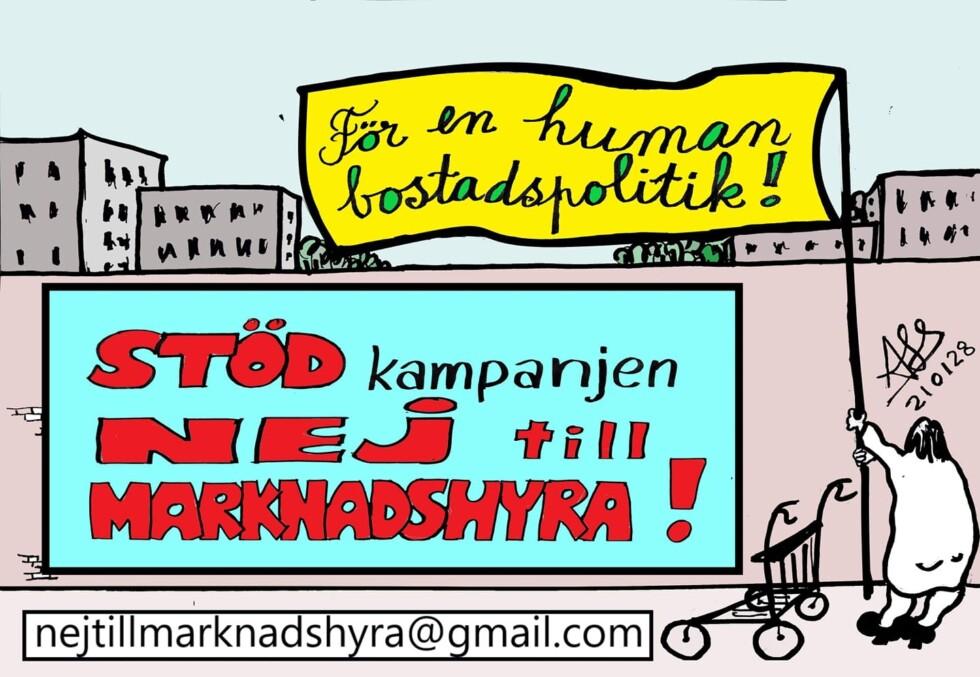 affisch: nej till marknadshyra