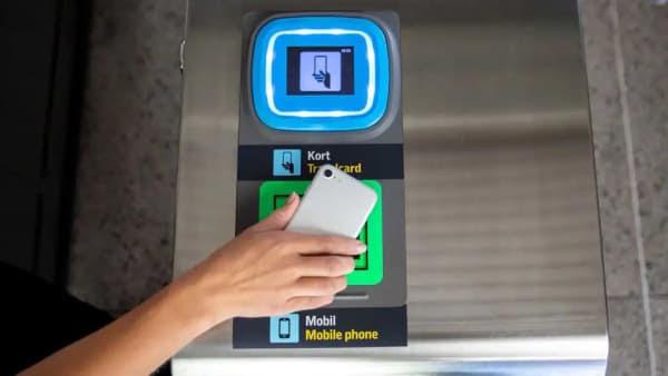 t-banan: spärr för mobiltelefon