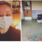 Regnovädret: Annettes massagestudio fylldes med vatten