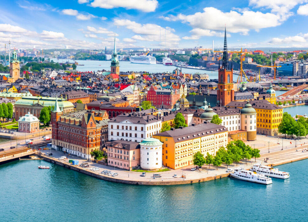 Stockholm,Old,Town,(gamla,Stan),Cityscape,From,City,Hall,Top,