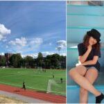 Friskoleelever går friidrottsskola  på Västberga IP i sommar