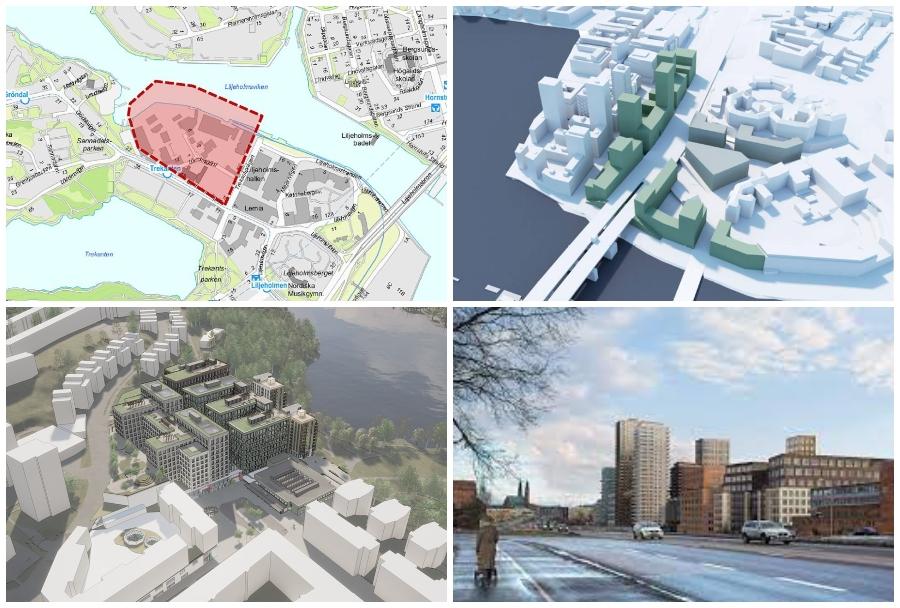 liljeholmen - skisser stadsplanering