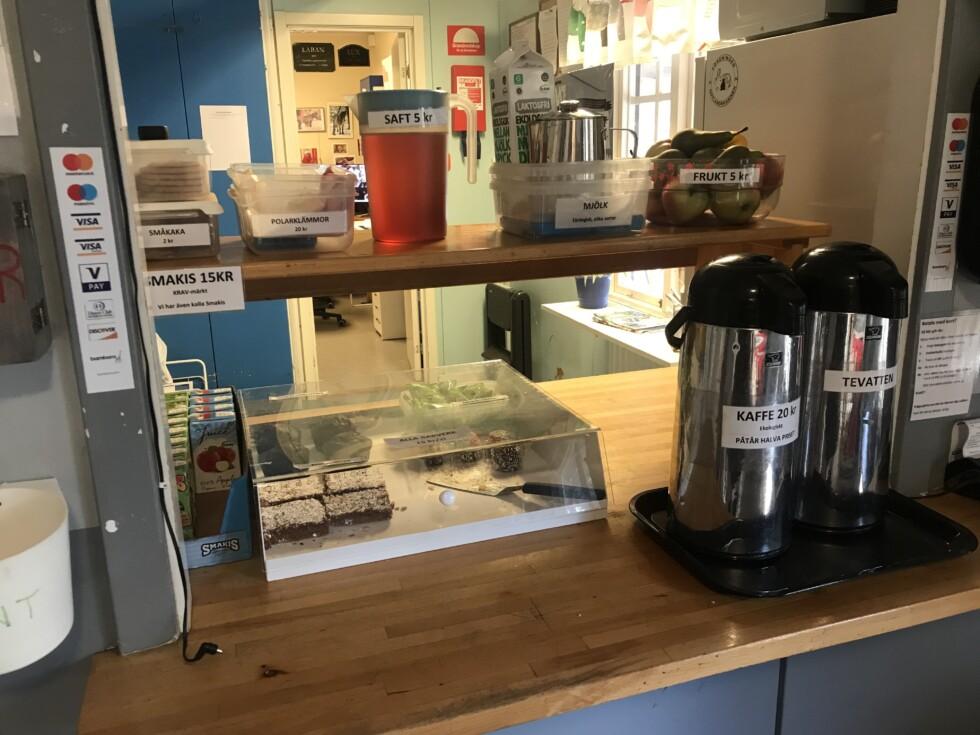 café självbetjäning